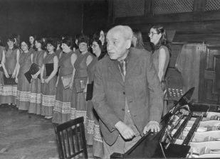 Bárdos Lajos az 1986-os ősbemutatón