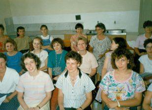 Kórustagok Barcelonában 1990