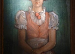 Éber Sándor festménye a nyolcéves kis Katanicsról (1937)